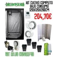 Kit Cultivo Completo Bajo Consumo 120x120x200cm