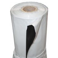 PLASTICO REFLECTANTE BLANCO/NEGRO (2MX100MX125Mu) GRUESO