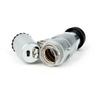 MICROSCOPIO MINI 60X CON LUZ LED