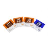 PACK SOLUCIONES PH4,PH7,C-1000, PH-STOR (20 Sobres), HM DIGITAL