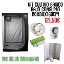 Kit Cultivo Bajo Consumo 80x80x160cm