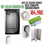 kit Cultivo Básico Bajo Consumo 100x100x200cm