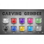 GRINDER CARVING NEGRO 4 PARTES (62 MM)